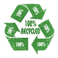 100% Recycled Royalty Free Stock Photo