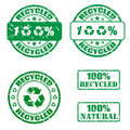 100% recycled stamps Royalty Free Stock Photo