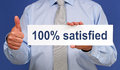 100% satisfied sign Royalty Free Stock Photos