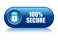100 secure button Stock Photos