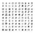 100 sketch web element Stock Image