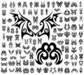 100 Tribal Tattoo shapes Stock Photography