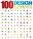 100 vektorové označenie organizácie alebo inštitúcie a dizajn prvky