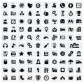100 web icons Royalty Free Stock Images