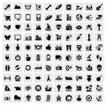 100 web icons Stock Photo