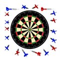 10000px dartboard+darts Royalty Free Stock Photography