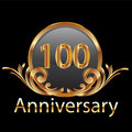 100th years anniversary Stock Image