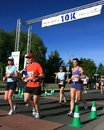 10K Mark of Marathon Stock Photos