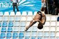 10m platform diving at the FINA World Championship Royalty Free Stock Photo