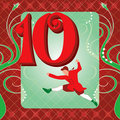 10th Day of Christmas Royalty Free Stock Photo