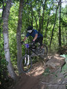 11辆自行车上涨山 库存图片