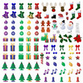 110 Christmas Icons Stock Images