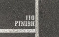 110 Meter Finish Line Stock Photo