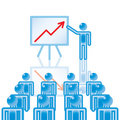 12. Business Presentation in blue. Stock Photos