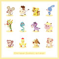 12 Cartoon Chinese Zodiac Anim...