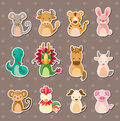 12 Chinese Zodiac Animal Stick...