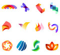 12 colorful vector symbols: (set 20) Stock Images