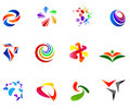 12 colorful vector symbols: (set 7) Stock Images