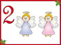 12 days of christmas: 2 angels Royalty Free Stock Images