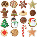 12 Days of Cute Christmas cookies Royalty Free Stock Photo