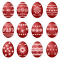 12 easter eggs (vector) Stock Images