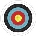 122cm FITA design Archery Target Stock Photo