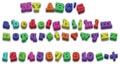 123 ABD Alphabet Fridge Magnets Vector Illustration Royalty Free Stock Photo