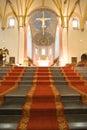 12th cen. Romanesque church, St Servaas Stock Images