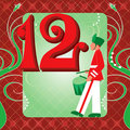 12th Day of Christmas Stock Images