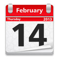 14 February Royalty Free Stock Image