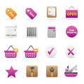 14 Purple Shopping Icons Stock Image