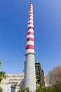 150 meters tall power plant chimney Royalty Free Stock Photo