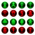 16 Christmas icons Stock Image