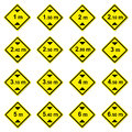 16 height limitation traffic sign Stock Image