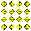 16 height limitation traffic sign Royalty Free Stock Image