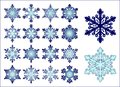 16 snowflakes Royalty Free Stock Photo