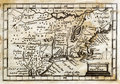 1635 antieke John Speed Map Colonial New England Stock Foto's