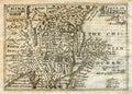 1635 de antieke kaart China Japan Korea van de Snelheid Royalty-vrije Stock Afbeeldingen