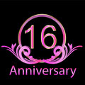 16th anniversary birthday Royalty Free Stock Images