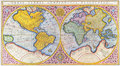 16th century world map Royalty Free Stock Images