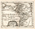 1765 De Val Map of North and South America Stock Images