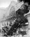 1895 locomotive accident, Montparnasse, Paris, France