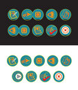 19 green web buttons Royalty Free Stock Images