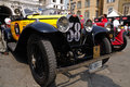 1930 built yellow Bugatti Type 40A at 1000 Miglia Stock Photography
