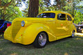 1930's Bright Yellow Hot Rod Royalty Free Stock Images