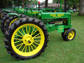 1937 Model B John Deere Tractor Stock Photo