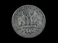 1942 United States Silver Quarter Royalty Free Stock Photo