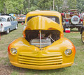 1948 Yellow Ford Pickup front view Stock Photos