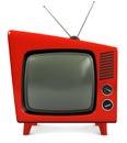 1950s TV Set Royalty Free Stock Photo