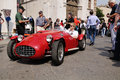 1951 built red Ermini Siluro Sport at 1000 Miglia Royalty Free Stock Photo